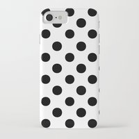 polka dots iPhone & iPod Cases featuring Polka Dots (Black/White) by 10813 Apparel