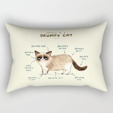 Anatomy of a Grumpy Kitty Rectangular Pillow