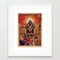 big lebowski Framed Art Prints featuring Big Lebowski by ZIMZONOWICZ