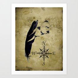 As the Crow Flies A677 Art Print