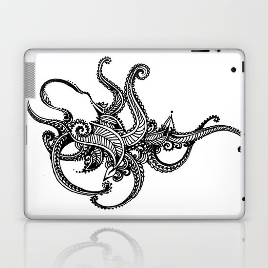 Henna Octopus  Laptop & iPad Skin