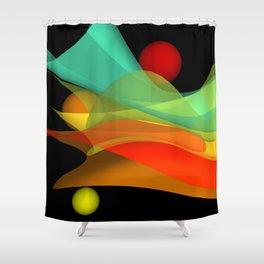 bicubic waves -4- Shower Curtain