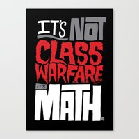 math Canvas Prints featuring It's Math by Chris Piascik