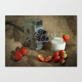 Sekonic and Strawberries Canvas Print