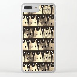 gold cats-53 Clear iPhone Case