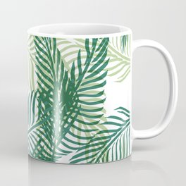 Green Palm Leaves Coffee Mug
