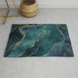 Golden Gemstone Glamour Mineral Rug