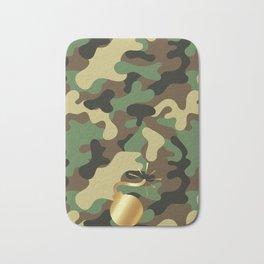 CAMO & GOLD BOMB DIGGITY Bath Mat