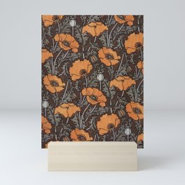 Art Nouveau Poppies Mini Art Print