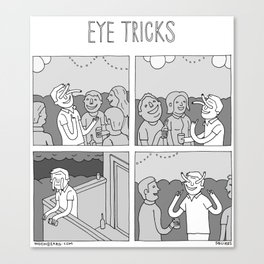Moonbeard - Eye Tricks Canvas Print