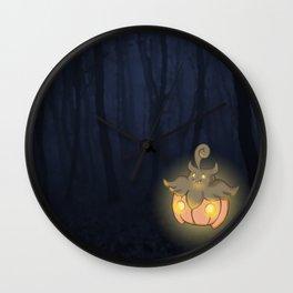 Spooky Pumpkaboo Wall Clock