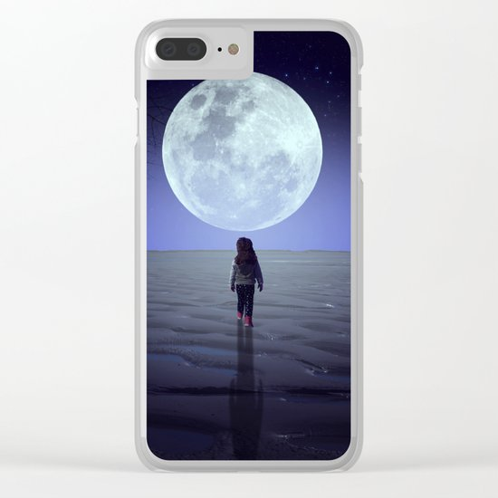 Moon alk Clear iPhone Case