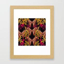 Moth Jungle Framed Art Print