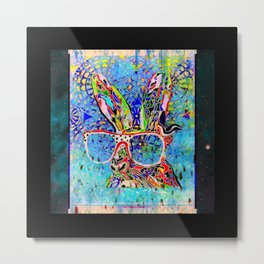 Unruly Hare Metal Print