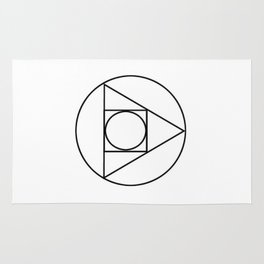 Occult Geometry Print Rug