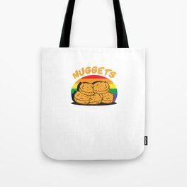 Funny Chicken Nuggets LGBT Tote Bag