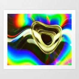 Gold Tunes Art Print