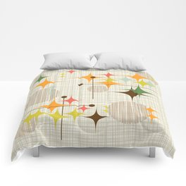 Mid Century Modern Starbursts and Globes 3a Comforters