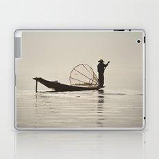 Fisherman at Inle Lake Laptop & iPad Skin