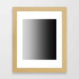 Gray to Black Vertical Linear Gradient Framed Art Print