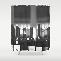 wine Shower Curtains featuring wine by Alyson Cornman Photography