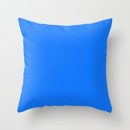 Solid Bright Blue Color Decor Throw Pillow