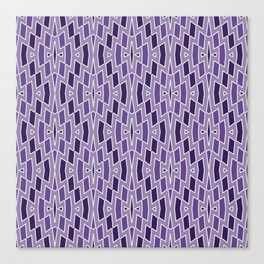 Fragmented Diamond Pattern in Violet Canvas Print
