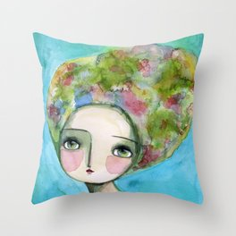 The Muse Of Spring Throw Pillow