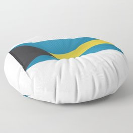 Flag of Bahamas. The slit in the paper with shadows.  Floor Pillow