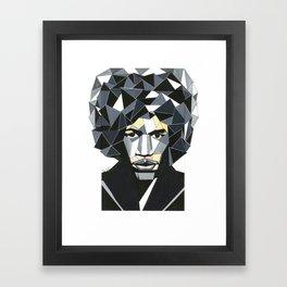 Geometric Hendrix Framed Art Print