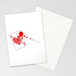 Ace of Hearts With Blood Stationery Cards