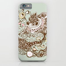 Zentangle green flower roots doodle Slim Case iPhone 6s