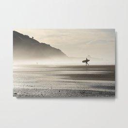 Surfer at Sunrise Metal Print