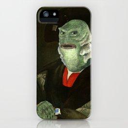 Creature from the Italian Renaissance: Giuliano De Medici meets Black Lagoon iPhone Case