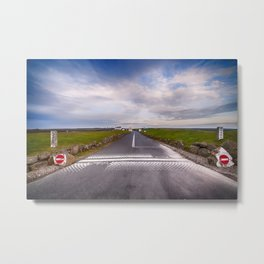 Lands End Start and Finish Line Metal Print