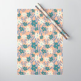 Just Peachy Floral Wrapping Paper