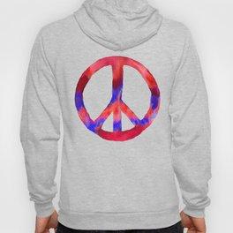 Patriotic Peace Sign Tie Dye Watercolor Hoody