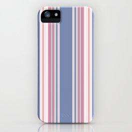 Vintage salmon vertical stripes pattern iPhone Case