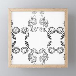 Hand drawn Seed Pods Pattern Framed Mini Art Print