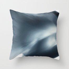 Monochromatic Ink Flow Minimalist Flow Throw Pillow