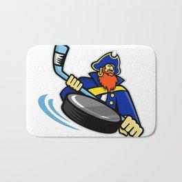 Swashbuckler Ice Hockey Sports Mascot Bath Mat