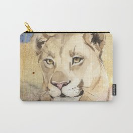 Lioness Watercolor Painting  Carry-All Pouch