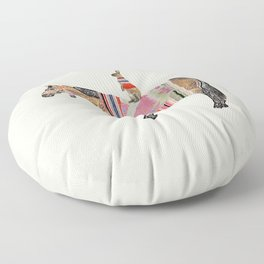 Horse with hare  Floor Pillow