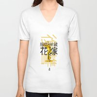 kill bill V-neck T-shirts featuring THE BRIDE FROM KILL BILL by Akyanyme