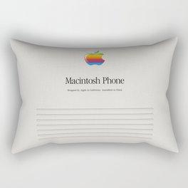 Macintosh phone Vintage Rectangular Pillow