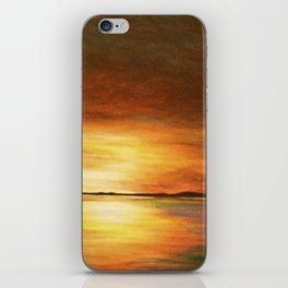 morning coffee and salt air iPhone Skin