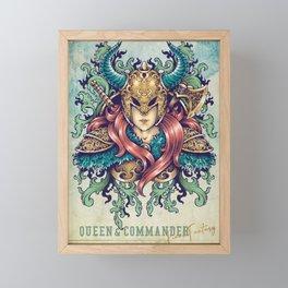 Queen & Commander Framed Mini Art Print