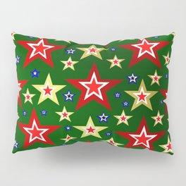 grenn,blue,gold,red stars xmas pattern Pillow Sham
