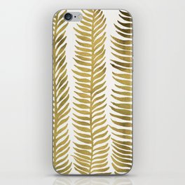 Golden Seaweed iPhone Skin