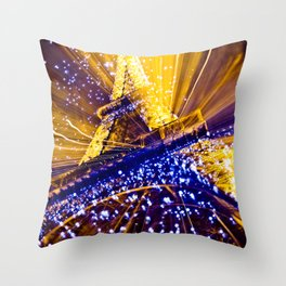 Supernova Eiffel Throw Pillow